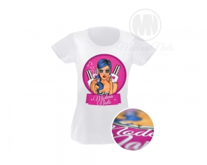 Koszulka t-shirt Damski White Pop-Art - Roz: XL
