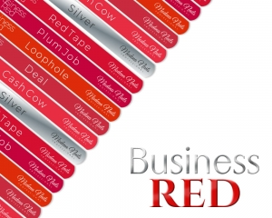 Naklejki Na Wzorniki - Business Red Collection